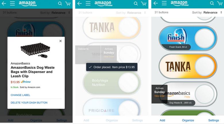 Amazon Dash Buttons app