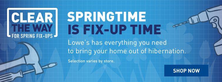 Lowe's Springtime Fix-Up