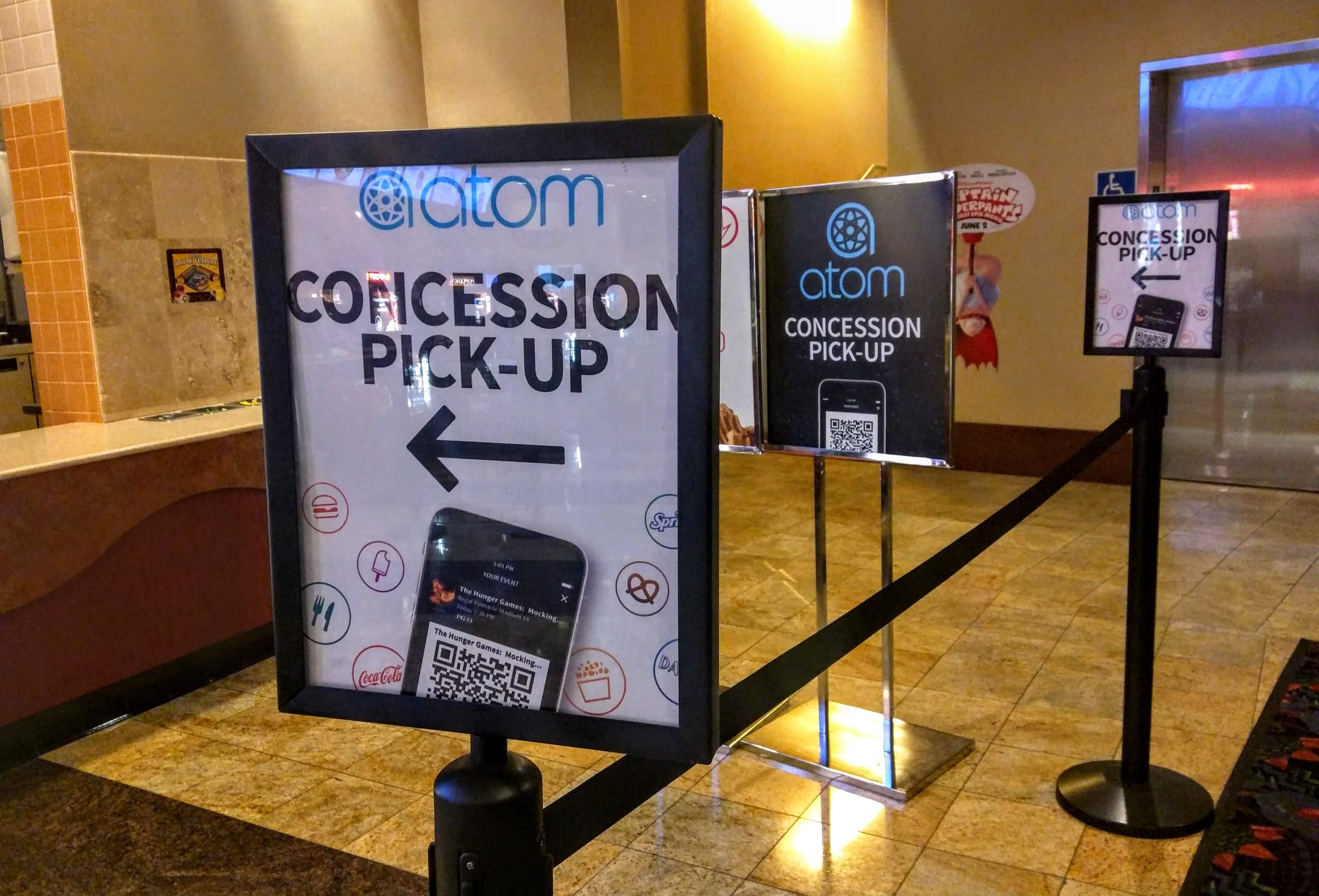 Atom tickets concession line