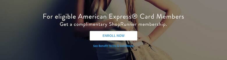 Complimentary American Express ShopRunner Membership