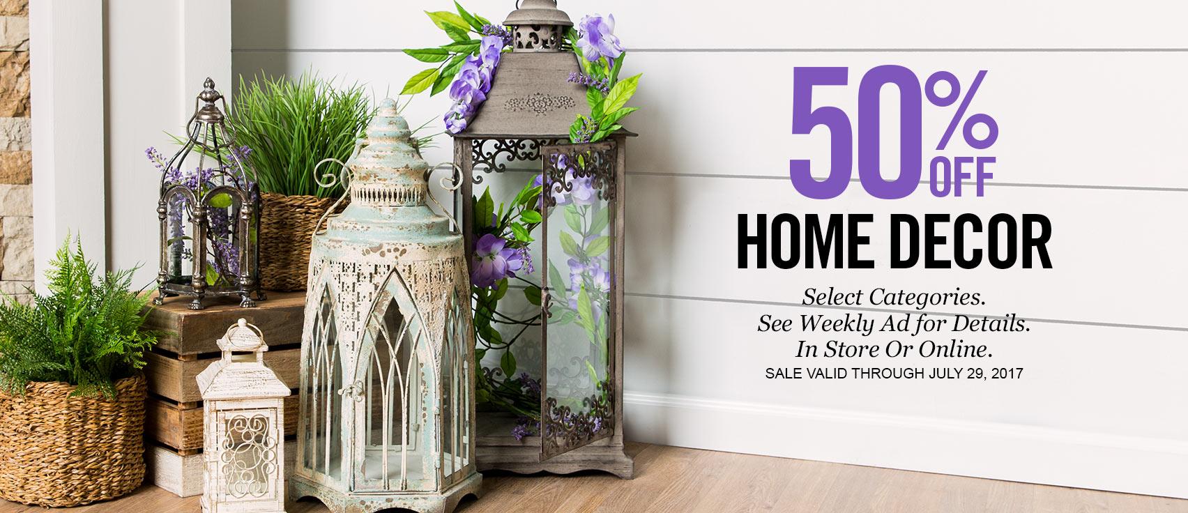 50% Off Home Decor