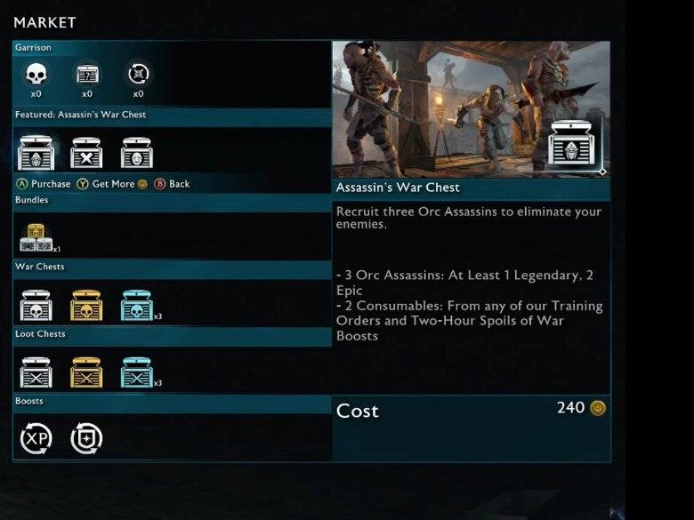 Middle-earth Shadow of War Loot Box