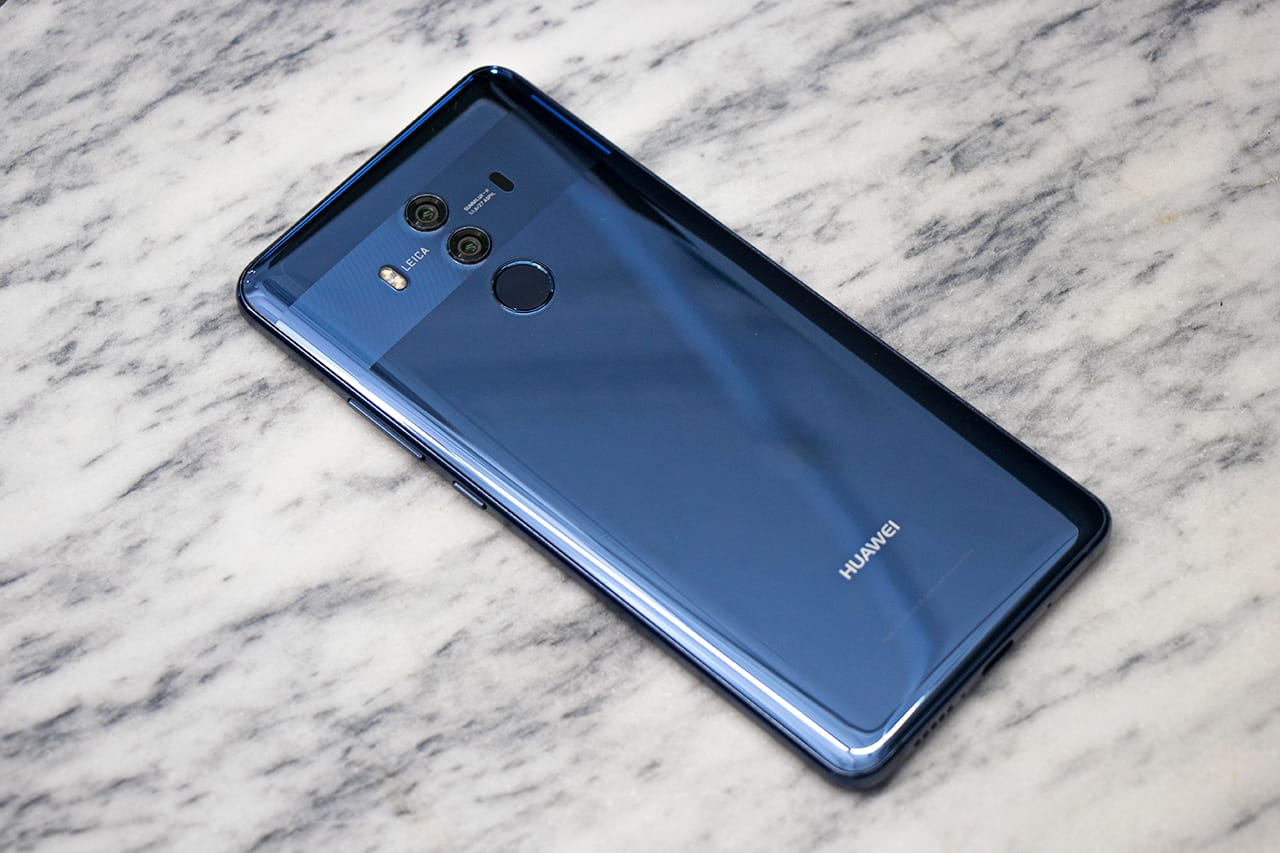 Huawei Mate 10 Pro smartphone back view