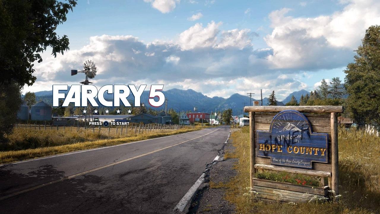 Far Cry 5 - Start Screen
