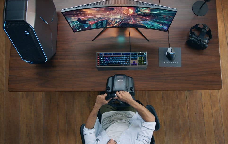 Alienware 34-inch Curved Gaming Monitor setup