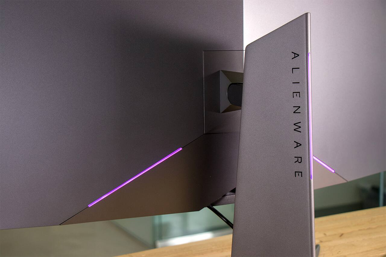 Alienware 34-inch Curved Gaming Monitor AlienFX lighting system Slickdeals