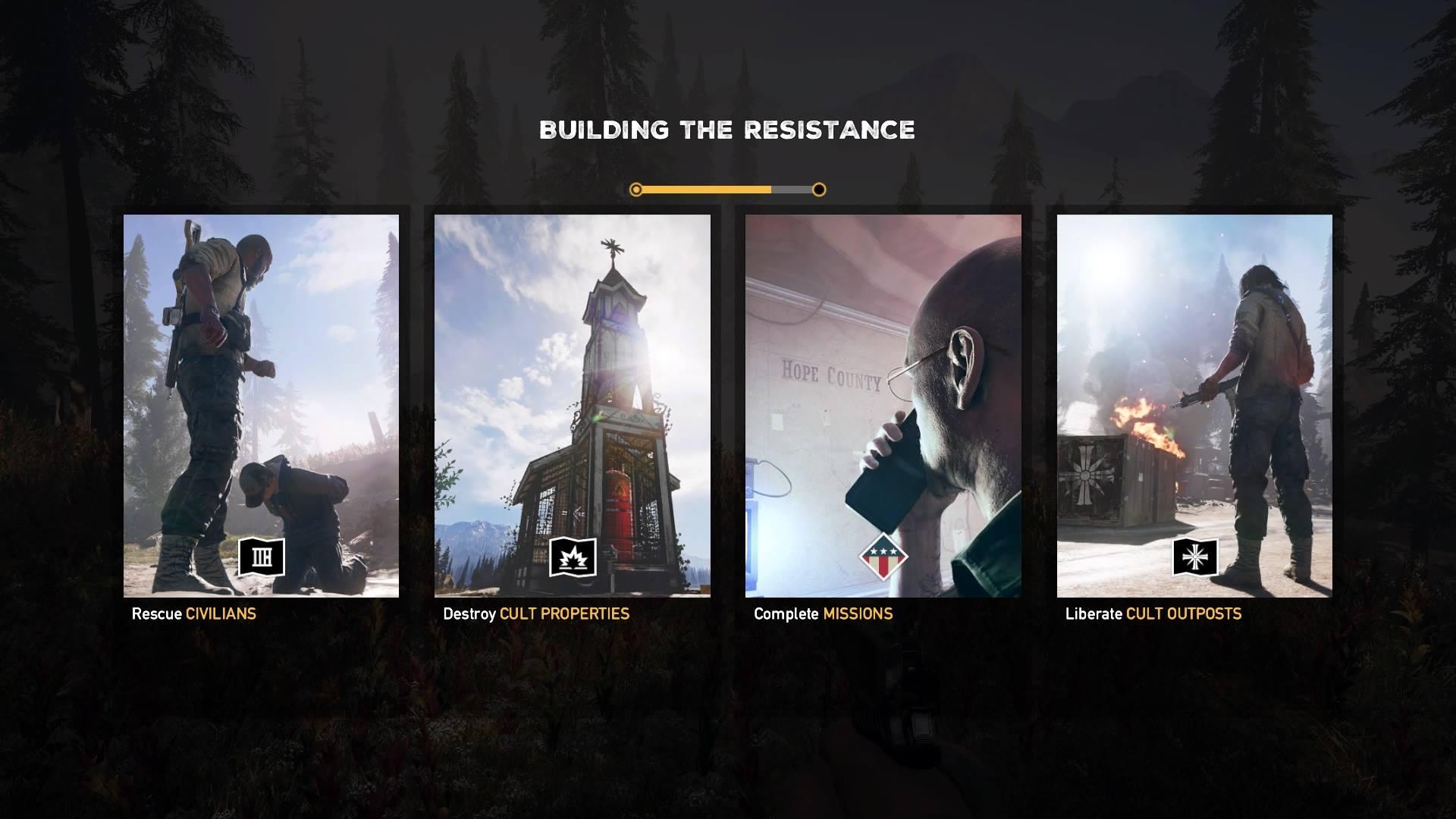 Far Cry 5 - Objectives