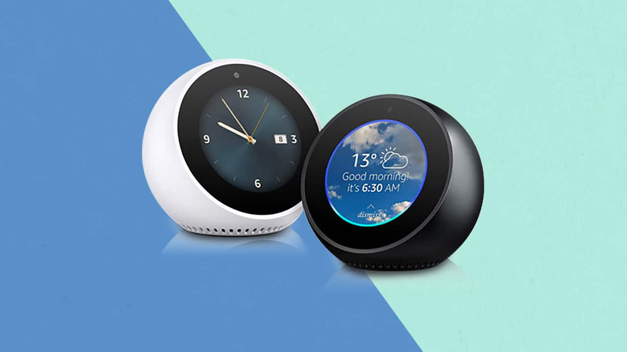 amazon echo spot, echo spot, alexa