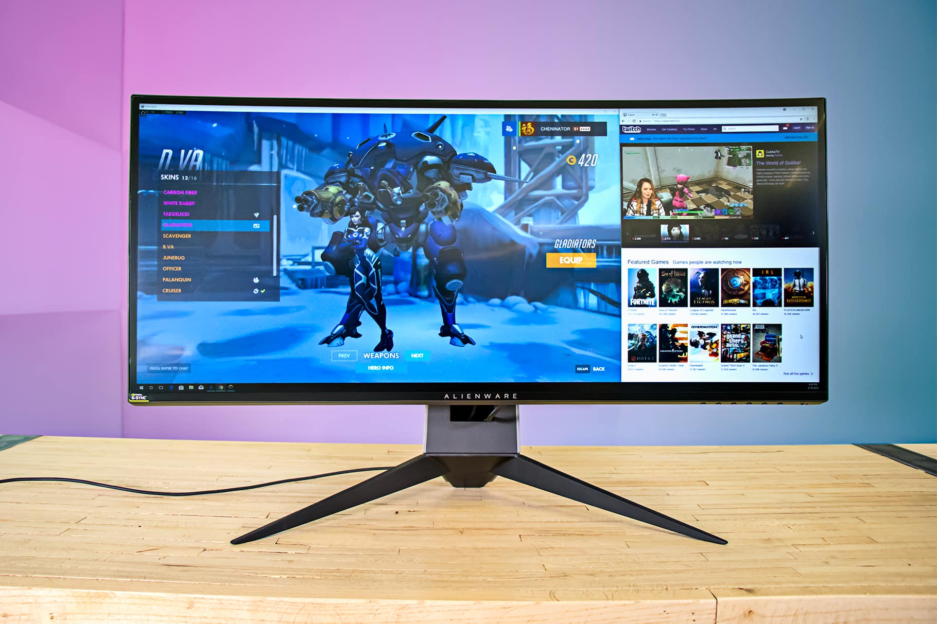 Alienware 34-inch Curved Gaming Monitor front Slickdeals