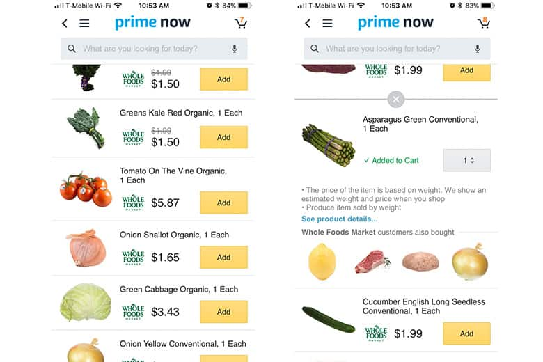 Whole Foods, Prime Now, Grocery Delivery