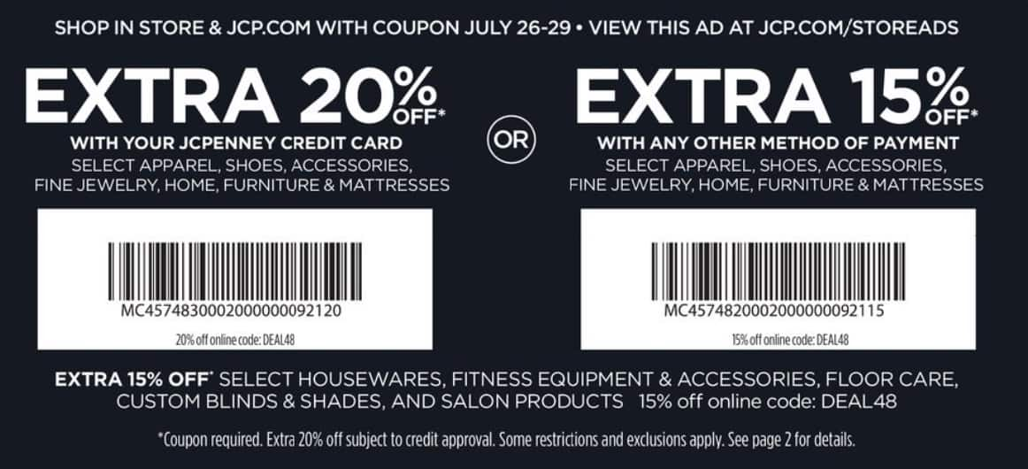 JCPenney Black Friday in July Sale