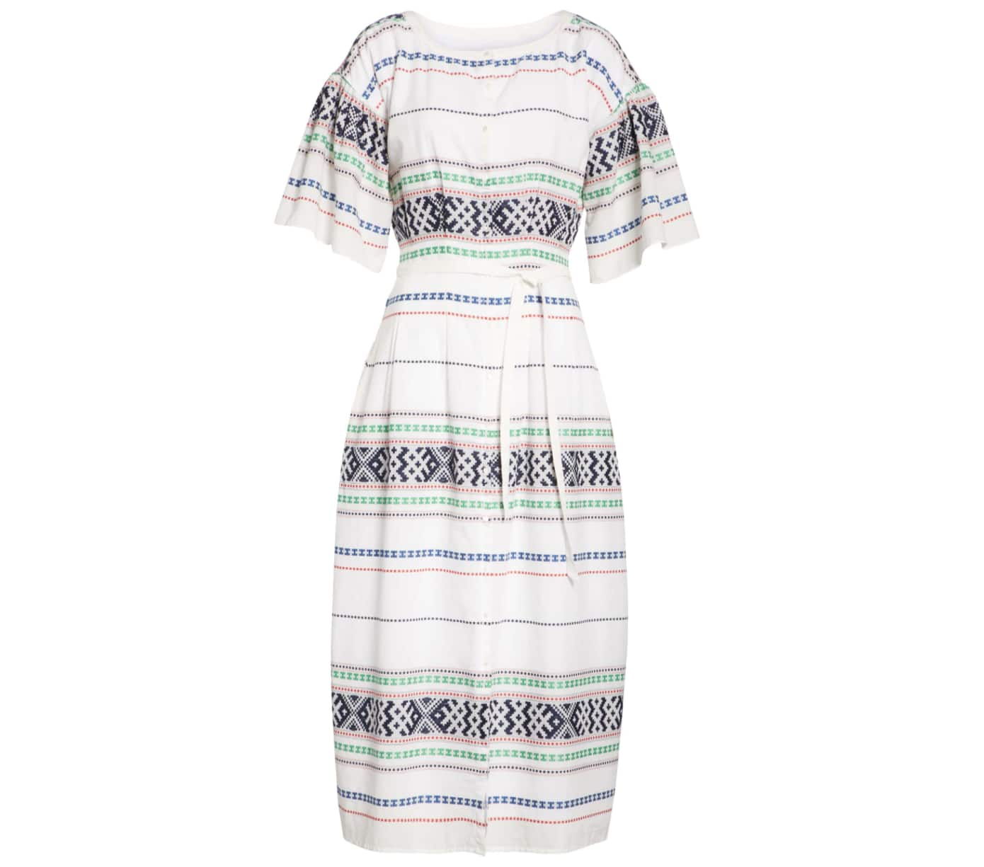 Joie Lilianaly Embroidered Midi Dress