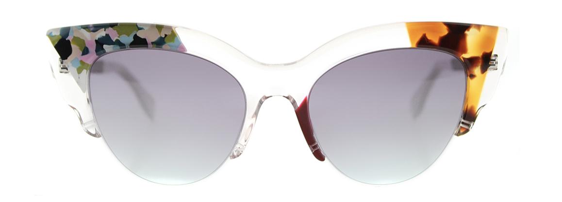 FendiJungle Cat-Eye Plastic Sunglasses