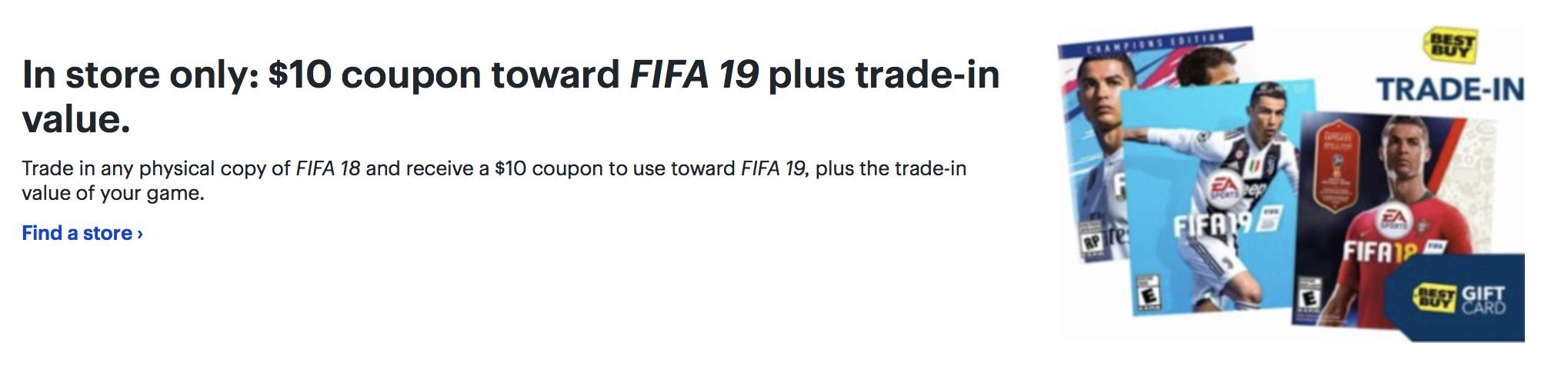 Best Buy FIFA 19 Deal