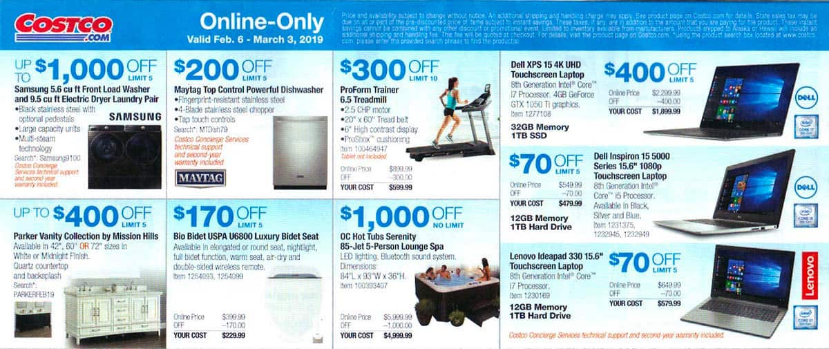 costco february 2019 coupon book and best deals of the month. Black Bedroom Furniture Sets. Home Design Ideas