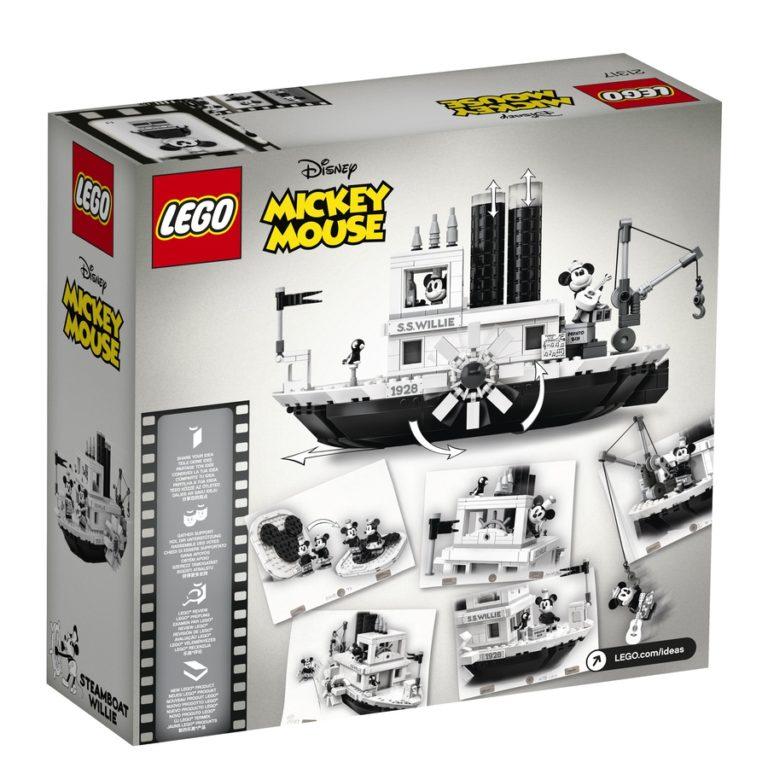 LEGO Steamboat Willie box back