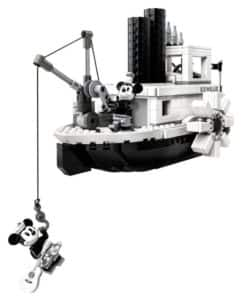 LEGO steamboat willie action