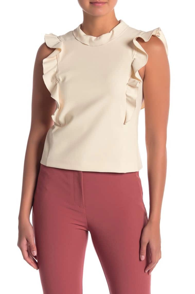 Clear the Rack Sale: Rebecca Taylor Sleeveless Ruffle Suit Tank Top