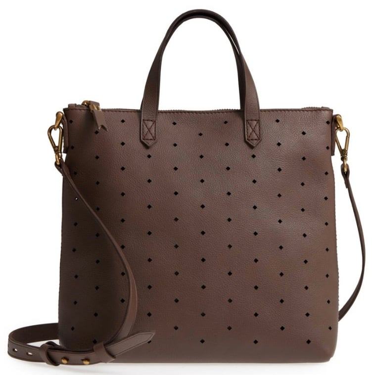 Clear the Rack Sale: Madewell Mini Transport Perforated Leather Crossbody Bag
