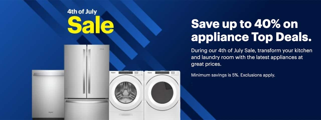 Save on appliances at Best Buy