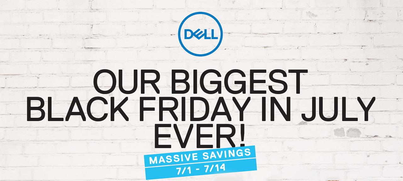 Dell's biggest Black Friday in July sale starts July 1st