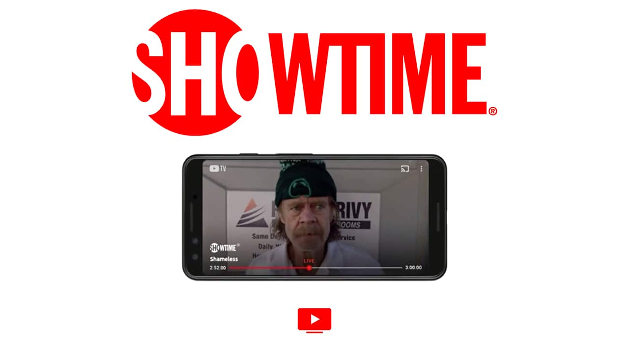 Stream Showtime on YouTube TV