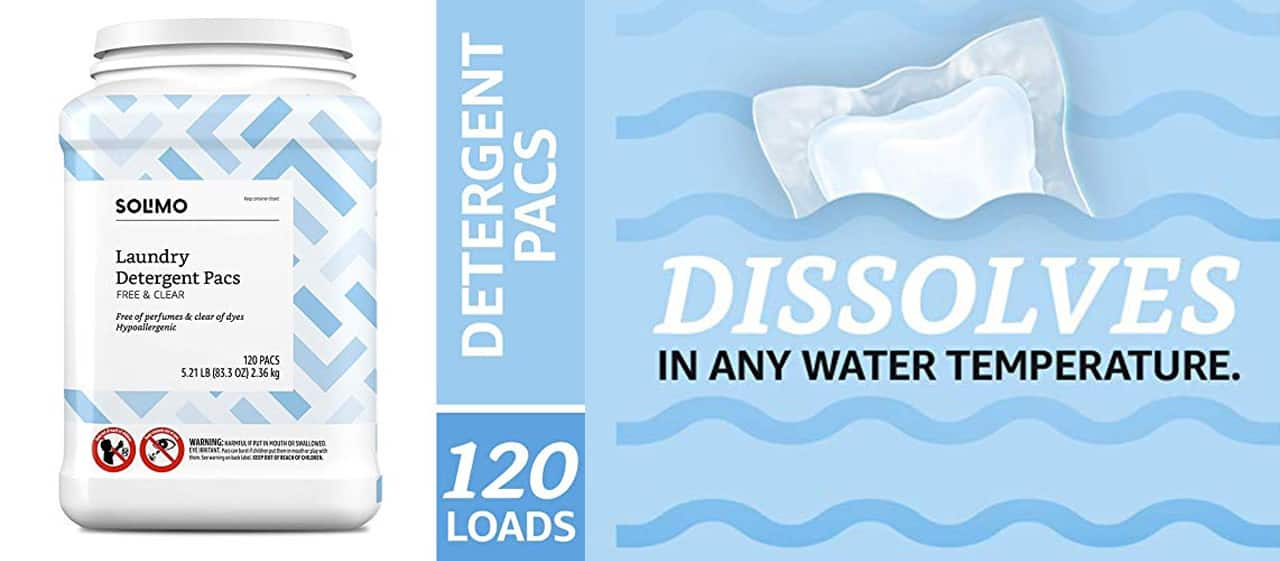 Solmo detergent dissolves in any water temperature.